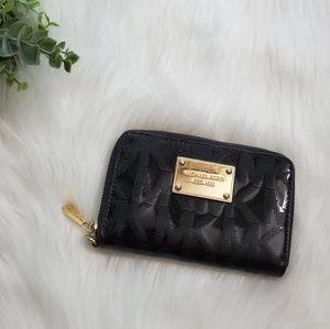 Michael Kors Black Patent Leather MK wallet